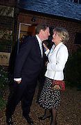 Andrew Parker-Bowles and Annabel Elliot, Cartier party, Chelsea Physic Garden. 19 May 2003. © Copyright Photograph by Dafydd Jones 66 Stockwell Park Rd. London SW9 0DA Tel 020 7733 0108 www.dafjones.com