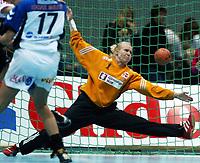 Håndball, 26. september 2002. Treningskamp, Norge - Jugoslavia 31-19. Heide Tjugum Mørk, Norge.