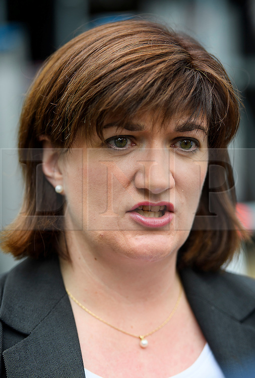 © Licensed to London News Pictures. 24/06/2016. London, UK. Secretary of State for Education NICKY MORGAN during an interview in Westminster, London on the day that the UK voted to leave the EU in a referendum. Photo credit: Ben Cawthra/LNP