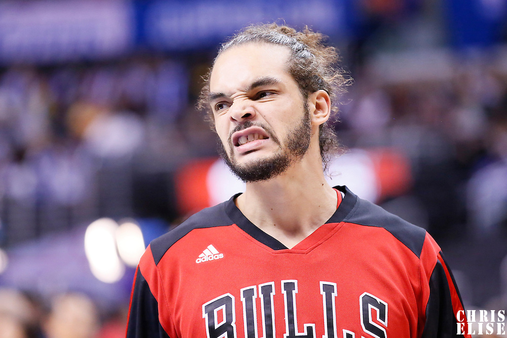 24 November 2013: Chicago Bulls center Joakim Noah (13) is seen prior to the Los Angeles Clippers 121-82 victory over the Chicago Bulls at the Staples Center, Los Angeles, California, USA.