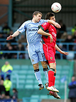 Photo: Paul Thomas. Coventry City v Cardiff City, Highfield Road, Coventry,  Coca Cola Chamionship. 12/03/2005. Michael Doyle and Richard Langley.