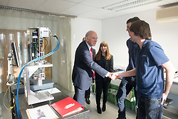 ***STRICT EMBARGO UNTIL 00:01 TUESDAY 9th DECEMBER**** © Licensed to London News Pictures. 08/12/2014. Oxford, UK UK Business Secretary Vince Cable visits FMB Oxford, a high technology engineering firm, today 8th December 2014 to visit apprentices at the company. The Government has announced it has fulfilled its commitment to two million apprentices starting in the parliament. Photo credit : Stephen Simpson/LNP