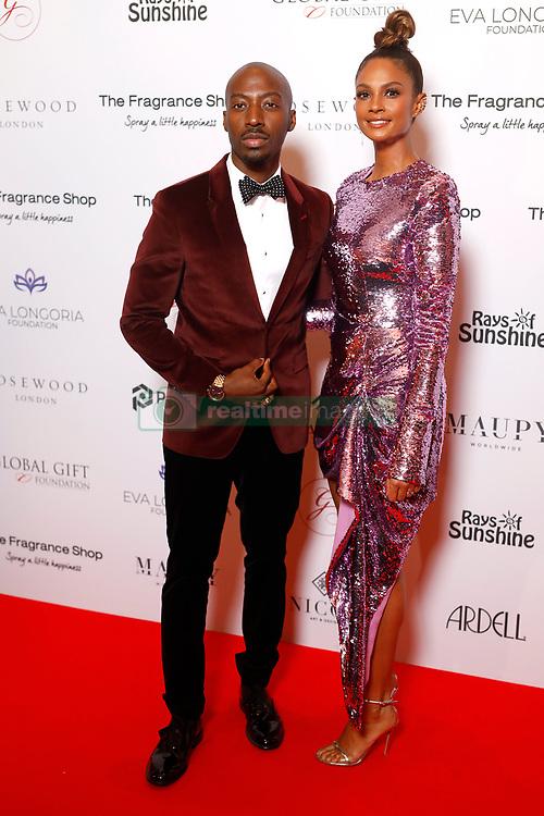 Azuka Ononye and Alesha Dixon attending the 9th Annual Global Gift Gala held at the Rosewood Hotel, London.