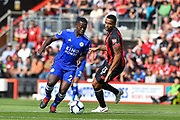 Leicester City Midfielder, Nampalys Mendy (24) gets away from AFC Bournemouth Forward, Callum Wilson (13) during the Premier League match between Bournemouth and Leicester City at the Vitality Stadium, Bournemouth, England on 15 September 2018.