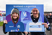 Scotland fans ahead of the Autumn Test match between Scotland and Argentina at Murrayfield, Edinburgh, Scotland on 24 November 2018.