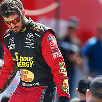 June 24, 2018 - Sonoma, California , USA: Martin Truex, Jr (78) gets introduced for the TOYOTA/SAVE MART 350 at Sonoma Raceway in Sonoma, California .