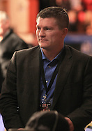 Picture by Richard Gould/Focus Images Ltd +44 7855 403186<br /> 02/11/2013<br /> Boxer Ricky Hatton sat ringside at the Hull Ice Arena, Hull.