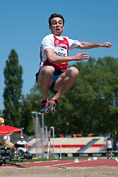 KOBESOV Chermen, RUS, Long Jump, T37/38, 2013 IPC Athletics World Championships, Lyon, France