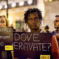 Manifestazioni per gli immigrati morti a Lampedusa