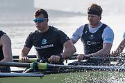 Putney, London,  Tideway Week, Championship Course. River Thames,  Oxford UBC. [R] 5: Olivier Siegelaar and 6: Michael DiSanto, <br /> Tuesday  28/03/2017<br /> [Mandatory Credit; Credit: Peter Spurrier/Intersport Images.com ]