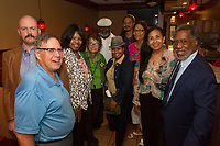 """People came out Monday evening, September 25th, 2017 to kick off the campaign to save the cable car building that currently hosts the Hyde Park Historical Society located at 5529 S. Lake Park Ave. The event was held at Marvillas Mexican Restaurant located at 5506 S. Lake Park Ave.<br /> <br /> 0264 – (l to r) Gary Hyde Park Historical Society board member, Ossewarrde, Hyde Park Historical Society board member, Andrew Call, Hyde Park Historical Society board member, Janice Knox, Hyde Park Historical Society board member, Cleveland Holden, Dawn Posey of the Hyde Park Chamber of Commerce, Armand Scott, Patricia Lawrence Rebecca Dobbs and Executive Director for the Hyde Park Chamber of Commerce, Wallace Goode.<br /> <br /> Please 'Like' """"Spencer Bibbs Photography"""" on Facebook.<br /> <br /> Please leave a review for Spencer Bibbs Photography on Yelp.<br /> <br /> All rights to this photo are owned by Spencer Bibbs of Spencer Bibbs Photography and may only be used in any way shape or form, whole or in part with written permission by the owner of the photo, Spencer Bibbs.<br /> <br /> For all of your photography needs, please contact Spencer Bibbs at 773-895-4744. I can also be reached in the following ways:<br /> <br /> Website – www.spbdigitalconcepts.photoshelter.com<br /> <br /> Text - Text """"Spencer Bibbs"""" to 72727<br /> <br /> Email – spencerbibbsphotography@yahoo.com"""