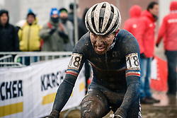 Joshua DUBAU of FRA during the Men Under 23 race, UCI Cyclo-cross World Championship at Bieles, Luxembourg, 29 January 2017. Photo by Pim Nijland / PelotonPhotos.com | All photos usage must carry mandatory copyright credit (Peloton Photos | Pim Nijland)