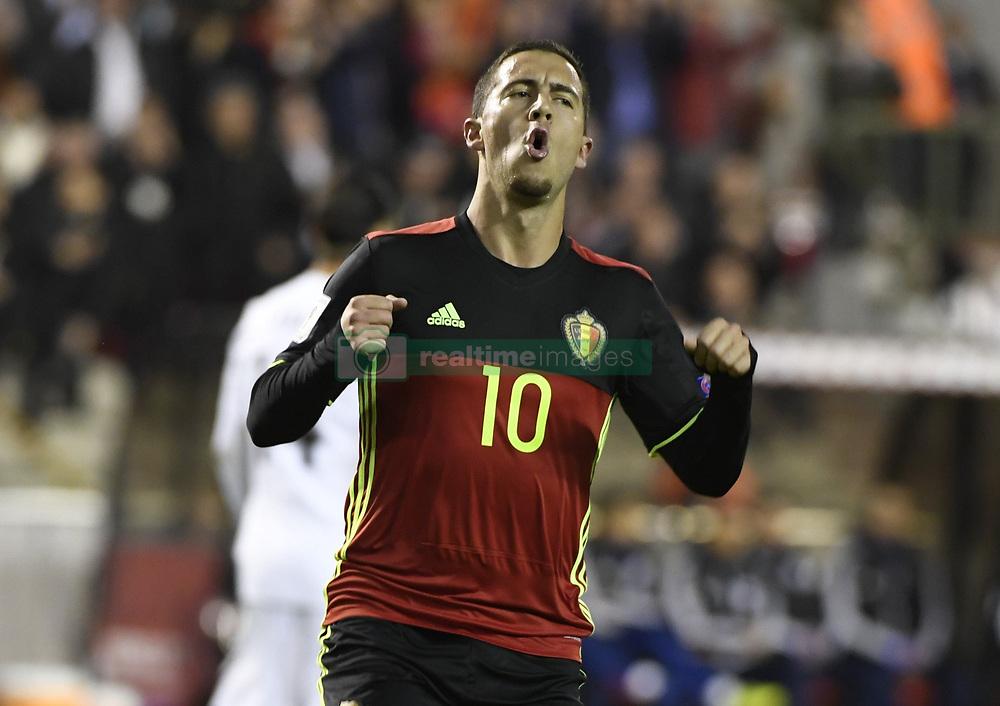 October 10, 2017 - Bruxelles, Belgique - Eden Hazard midfielder of Belgium (Credit Image: © Panoramic via ZUMA Press)