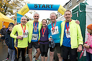 09/11/2013  Pat Keane, Pat Burke, Siobhan and Colm Kelleher  and Paul McWalter  all from Ballindereen, Co. Galway after finishing the Westport Sea2Summit &ndash; one of the country&rsquo;s leading Adventure Races <br /> The Athletes competed  across an intense route of road running, mountain cycling and the challenging uphill run of Croagh Patrick and finishing with a sea dash and obstacle challenge before finishing in the middle of Westport town.<br /> . Photo:Andrew Downes