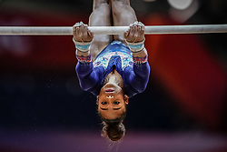 October 28, 2018 - Doha, Quatar - Melanie Jesus De Dos Santos of  France   during  Uneven Bars qualification at the Aspire Dome in Doha, Qatar, Artistic FIG Gymnastics World Championships on 28 of October 2018. (Credit Image: © Ulrik Pedersen/NurPhoto via ZUMA Press)