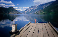 Anderson Lake and the boat dock, near Pemberton, BC