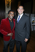 l to r: Marcus Samuelsson and R. Donahue Peeples at The 2009 NV Awards: A Salute to Urban Professionals sponsored by Hennessey held at The New York Stock Exchange on February 27, 2009 in New York City. ....