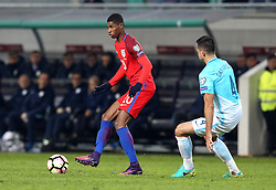 Marcus Rashford of England passes the ball - Mandatory by-line: Robbie Stephenson/JMP - 11/10/2016 - FOOTBALL - RSC Stozice - Ljubljana, England - Slovenia v England - World Cup European Qualifier