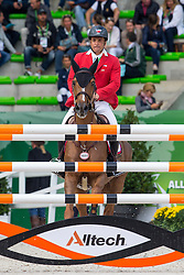 Rodrigo Carrasco, (CHI), Bardine - Team & Individual Competition Jumping Speed - Alltech FEI World Equestrian Games™ 2014 - Normandy, France.<br /> © Hippo Foto Team - Leanjo De Koster<br /> 02-09-14