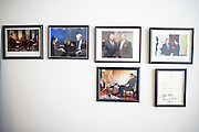 "Washington, D.C. - January 23, 2015: Chris Wallace, is the Anchor of Fox News Sunday. On his office wall photos of all the presidents he's interviewed, except Ronald Reagan. <br /> ""Over the course of my career in newspaper and television, I've had some remarkable experiences and it's fun to have photos of them around. I have a wall devoted to photos of presidents I interviewed, except for Reagan. I have everyone following him, along with Vladimir Putin when he was president of Russia in 2006. Probably the most interesting is the 2006 photo of my interview with former president Bill Clinton. I asked him what I thought was a fairly innocuous a question but he gave me a tongue lashing for about 20 minutes. ""<br /> <br /> The objects in Wallace's office in the Fox News D.C. Bureau is a mix of personal, political and celebrity history. <br /> <br /> CREDIT: Matt Roth for The New York Times<br /> Assignment ID: 30169659A"