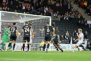 Milton Keynes Dons midfielder Ben Reeves (10) scores a goal from open play (1-1) during the EFL Sky Bet League 1 match between Milton Keynes Dons and Bury at stadium:mk, Milton Keynes, England on 27 September 2016. Photo by Dennis Goodwin.