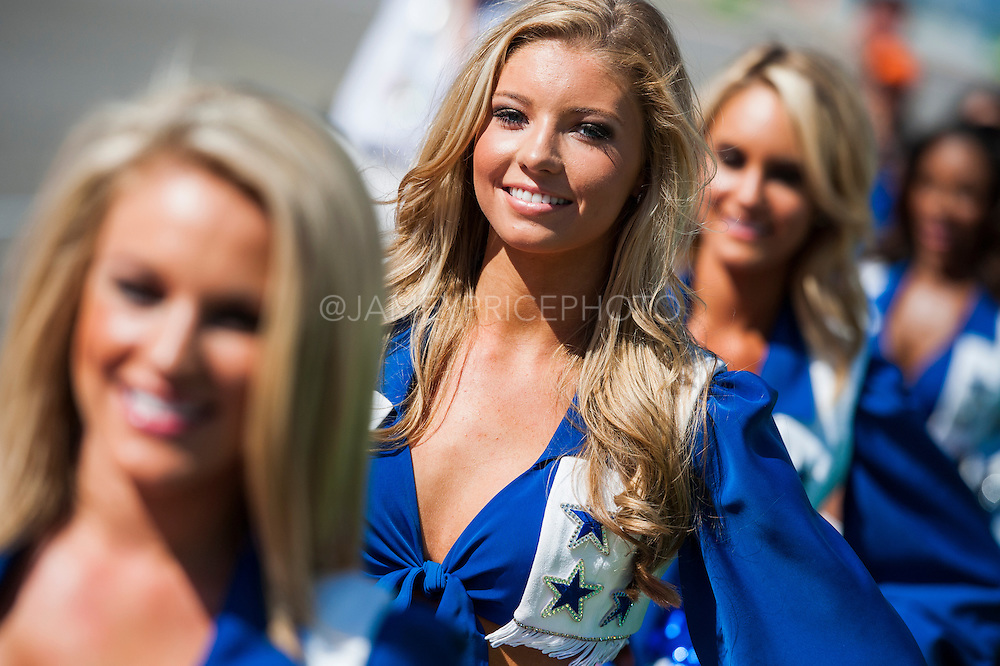 November 15- 17, 2013. Austin, Texas. United States Grand Prix 2013: Dallas Cowboys cheerleaders