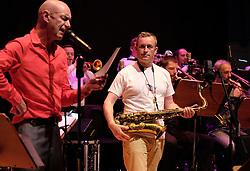 Edinburgh International Film Festival, Friday 23rd June 2017<br /> <br /> TOMMY SMITH RECEPTION with the Scottish National Jazz Orchestra<br /> <br /> Tam Dean Burn and Tommy Smith<br /> <br /> (c) Alex Todd   Edinburgh Elite media