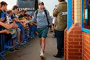 Leeds United midfielder Jack Harrison (22), on loan from Manchester City, arriving during the EFL Cup match between Leeds United and Stoke City at Elland Road, Leeds, England on 27 August 2019.