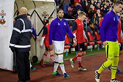 SOUTHAMPTON, ENGLAND - Saturday, November 19, 2016: Everton's Ashley Williams walks out before the FA Premier League match against Southampton at St. Mary's Stadium. (Pic by David Rawcliffe/Propaganda)