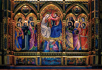 &quot;Triptych above the altar of the Church of San Domenico - Cortona&quot;...<br />