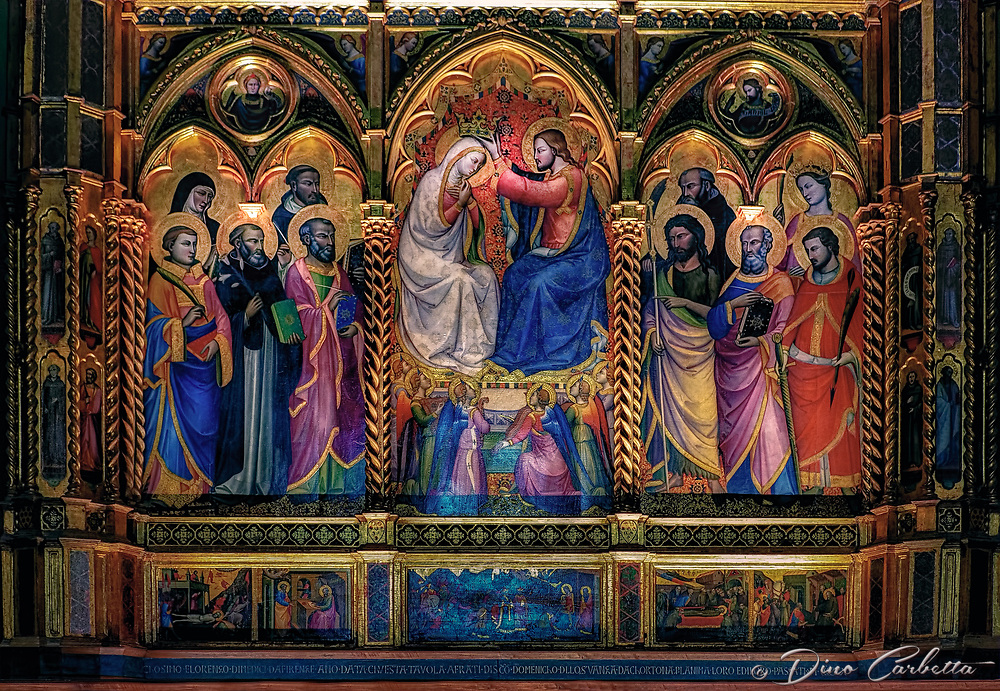 """Triptych above the altar of the Church of San Domenico - Cortona""...<br />