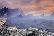 Volcano at dawn, Hawaii Volcanoes National Park, Hawaii
