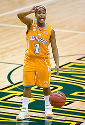 December 22, 2009; San Francisco, CA, USA;  Tennessee Lady Volunteers guard Briana Bass (1) during the first half against the San Francisco Dons at War Memorial Gym.  Tennessee defeated San Francisco 89-34.