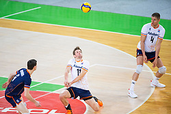 30-12-2019 SLO: Slovenia - Netherlands, Ljubljana<br /> Jelte Maan, Thijs Ter Horst, Just Dronkers of Netherlands of the Netherlands  during friendly volleyball match between National Men teams of Slovenia and Netherlands