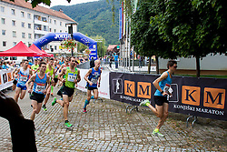 Mitja Kosovelj, Mitja Krevs and Rok Puhar at 3rd Marathon of Slovenske Konjice 2015 on September 27, 2015 in Slovenske Konjice, Slovenia. Photo by Urban Urbanc / Sportida