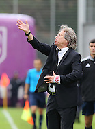 Portugal, FUNCHAL : Benfica's Portuguese coach Jorge Jesus gestures during the Portuguese league football match CD Nacional vs Benfica at the Madeira stadium in Funchal on November 09, 2014.  AFP PHOTO / GREGORIO CUNHA