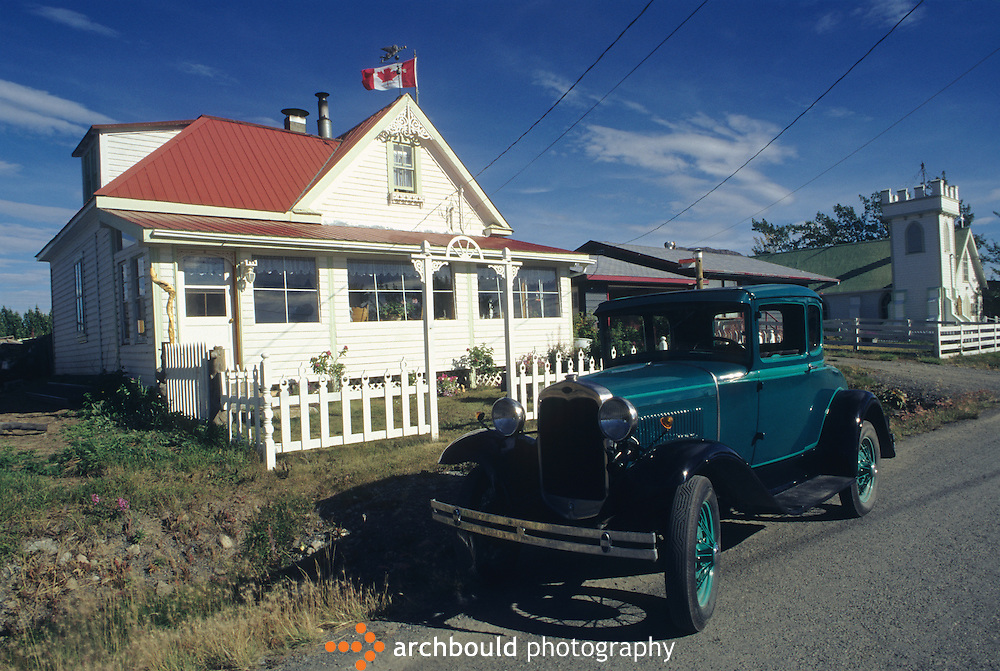 An Atlin, B.C. house with vintage auto parked out front. Atlin is a popular vacation destination for Yukoners.