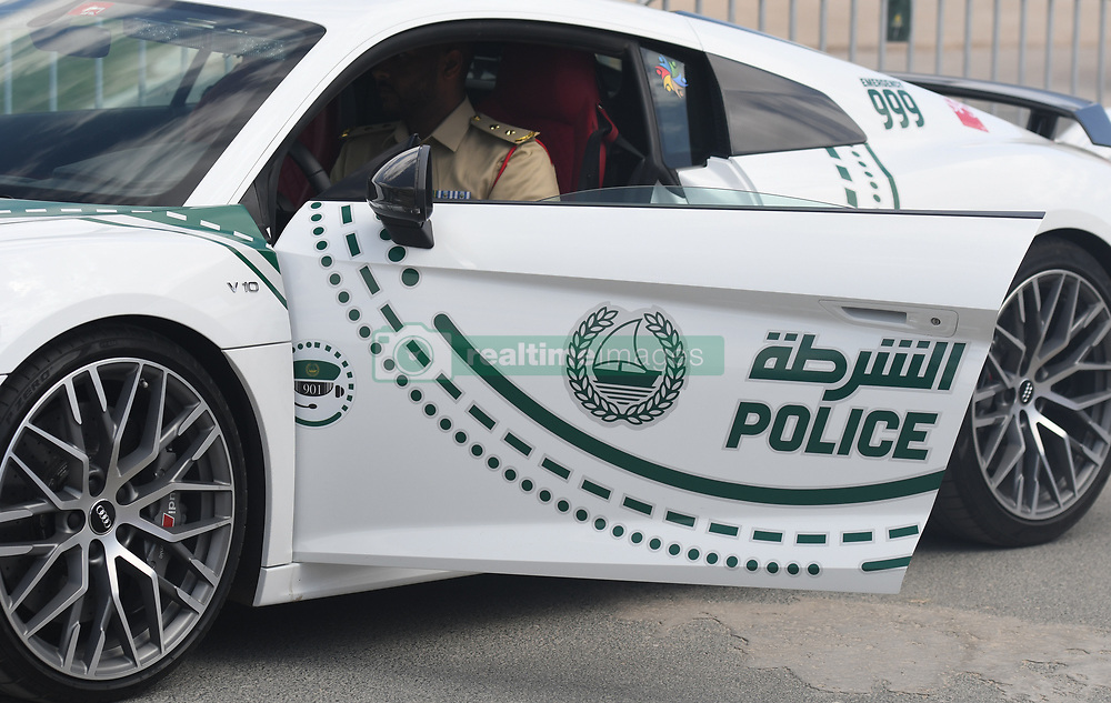 March 2, 2019 - Dubai, United Arab Emirates - Members of Dubai Police forces seen the start line of the seventh and final stage - Dubai Stage of the UAE Tour 2019, a 145km with a start from Dubai Safari Park and finish in City Walk area. .On Saturday, March 2, 2019, in Dubai Safari Park, Dubai Emirate, United Arab Emirates. (Credit Image: © Artur Widak/NurPhoto via ZUMA Press)