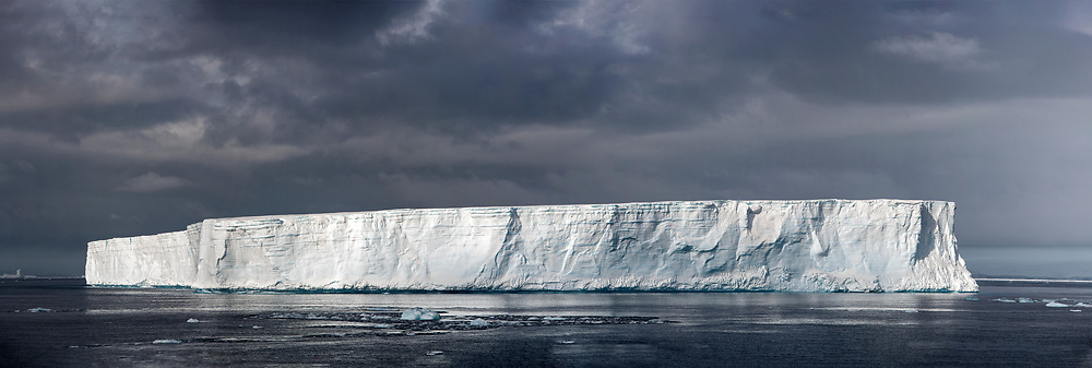 Gigantic table-shaped iceberg in the Antarctic Sound on the northern tip of the Antarctic Peninsula