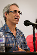"""Professor Bradford Barham speaks on the panel """"What's next for immigrant farm labor in Wisconsin?"""" at the Cap Times 2017 Idea Fest, Sunday, September 17, 2017"""