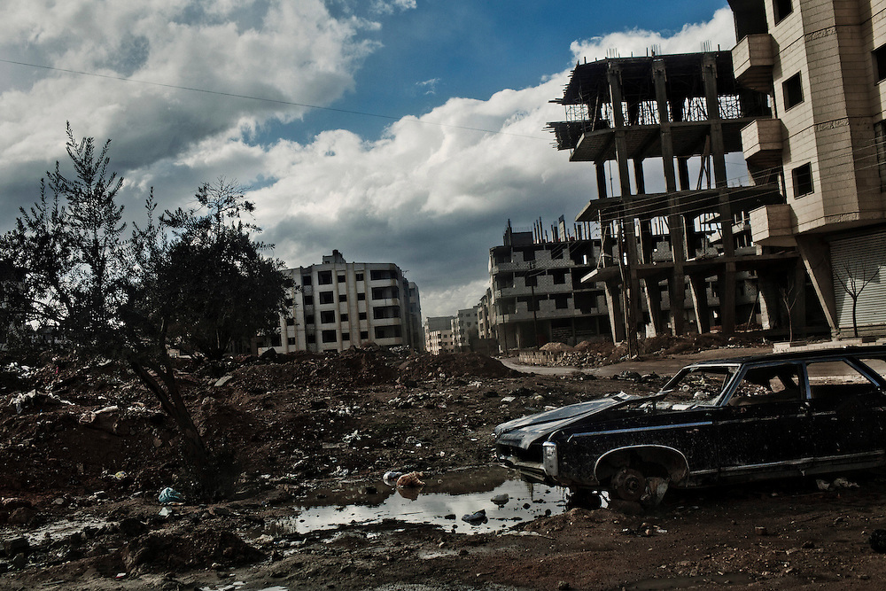 The town of Sabka, under control of the Free Syrian Army, in the outskirts of Damascus, January 27, 2012, Photo/Tomas Munita