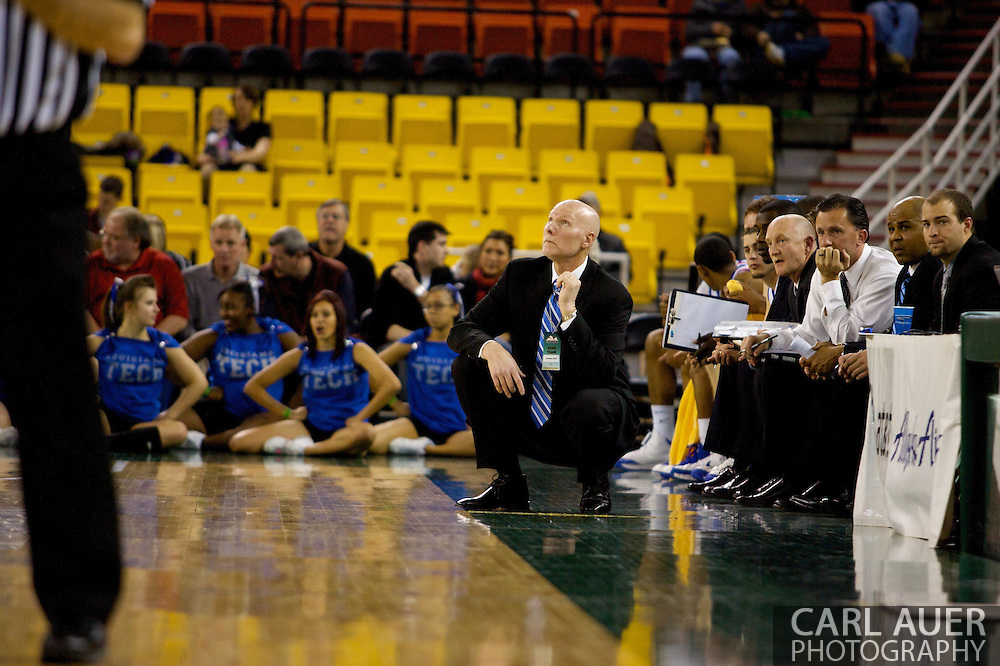 November 27, 2008: Louisiana Tech Head Coach Kerry Rupp in the opening round of the 2008 Great Alaska Shootout at the Sullivan Arena