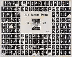 1990 Yale Divinity School Senior Portrait Class Group Photograph