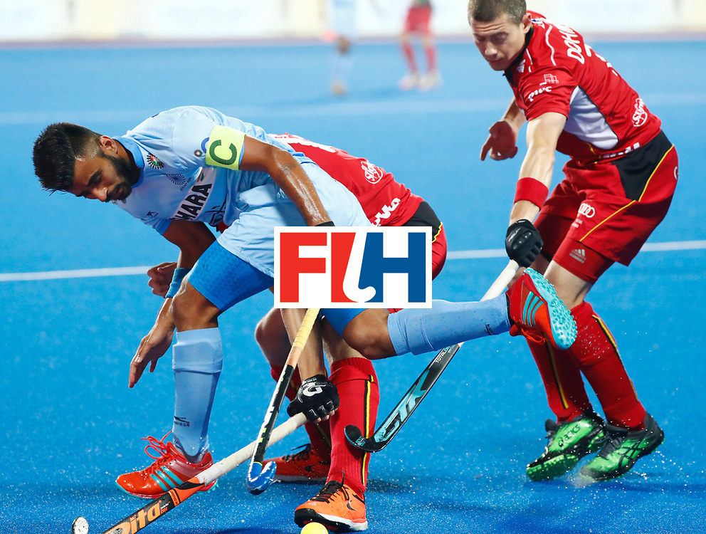 Odisha Men's Hockey World League Final Bhubaneswar 2017<br /> Match id:13<br /> Belgium v India<br /> Foto: Manpreet Singh (Ind)  <br /> COPYRIGHT WORLDSPORTPICS KOEN SUYK