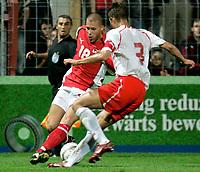 ◊Copyright:<br />GEPA pictures<br />◊Photographer:<br />Norbert Juvan<br />◊Name:<br />Konrad<br />◊Rubric:<br />Sport<br />◊Type:<br />Fussball<br />◊Event:<br />U-21 EM Qualifikation, Laenderspiel, Oesterreich vs Polen, AUT vs POL<br />◊Site:<br />Steyr, Austria<br />◊Date:<br />08/10/04<br />◊Description:<br />Mario Konrad (AUT), Antoni Lukasiewicz (POL)<br />◊Archive:<br />DCSNJ-0810041340<br />◊RegDate:<br />08.10.2004<br />◊Note:<br />8 MB - BG/BG