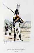 Rifleman, 1814-1816.   'Histoire de la maison militaire du Roi de 1814 a 1830' by Eugene Titeux, Paris, 1890.