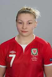 TREFOREST, WALES - Tuesday, February 14, 2011: Wales' Laren Price. (Pic by David Rawcliffe/Propaganda)
