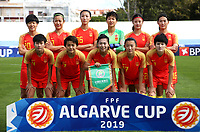 International Women's Friendly Matchs 2019 / <br /> Womens's Algarve Cup Tournament 2019 - <br /> Denmark v China 1-0 ( Complexo Desportivo - Vila Real Santo Antonio,Portugal ) - <br /> Team of China ,Pose prior the Match ,from the let up:ZHANG RUI ,LI JIAYUE ,LIN YUPING ,BI XIAOLIN ,WANG LINLIN ,YANG LINA //<br /> LOU JIAHUI ,WANG SHUANG ,GU YASHA ,YAO WEI ,WANG SHANSHAN