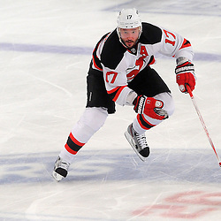 May 16, 2012: New Jersey Devils left wing Ilya Kovalchuk (17) skates the puck up ice during second period action in game 2 of the NHL Eastern Conference Finals between the New Jersey Devils and New York Rangers at Madison Square Garden in New York, N.Y.