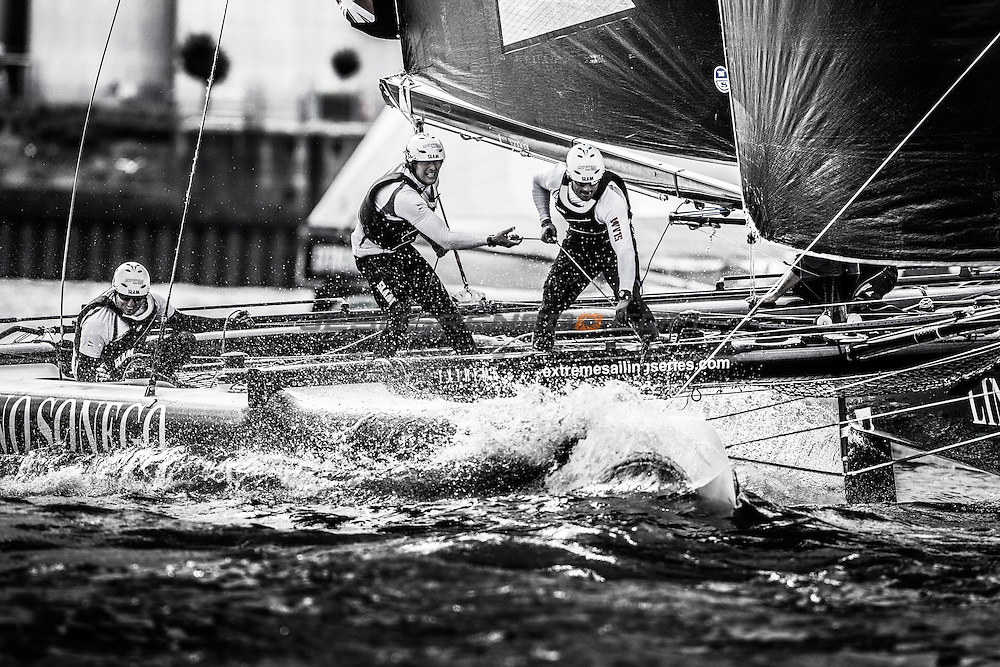 2015 Extreme Sailing Series - Act 5 - Hamburg.<br /> <br /> Credit Jesus Renado.